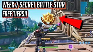 WEEK 7 SECRET BATTLE STAR LOCATION! | FREE TIERS! Fortnite Season 8