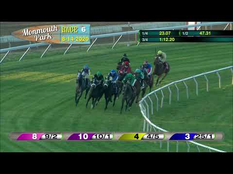 video thumbnail for MONMOUTH PARK 08-14-20 RACE 6