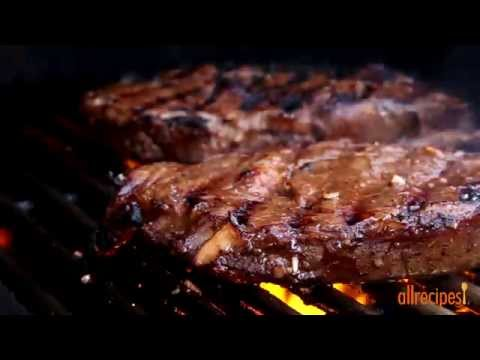 Beef Recipes - How to Make Garlic Marinated Steaks