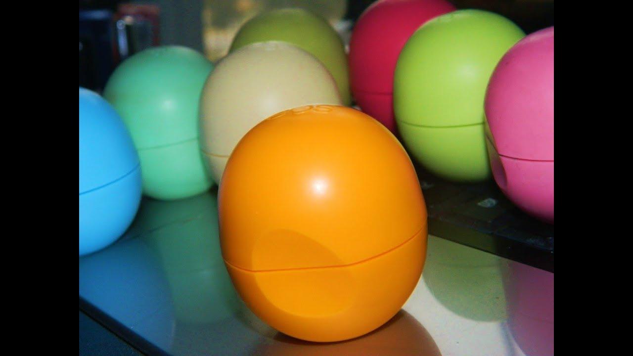 COMPLETE EOS Lip Balm Collection/Review/Description - YouTube