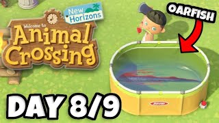 My Oarfish Is the BIGGEST Ever! Dont SELL it! - Animal Crossing: New Horizons Gameplay Day 8 & 9