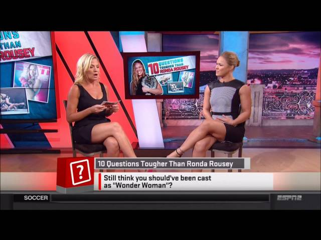 Michelle Beadle & Rhonda Rousey (Thigh Spectacular)Sportsnation