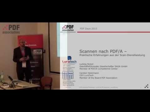 Scannen nach PDF/A