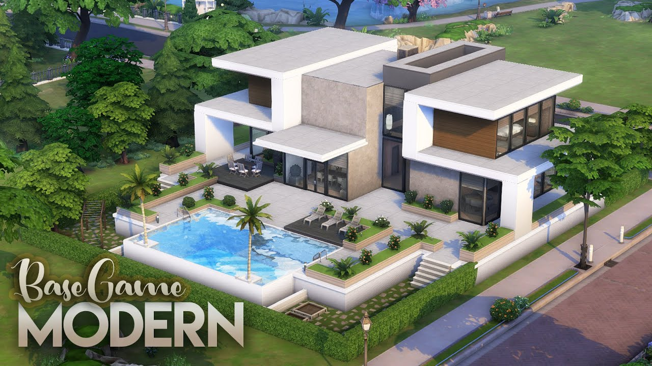 BASE GAME MODERN HOUSE | NO CC | The Sims 4: Speed Build