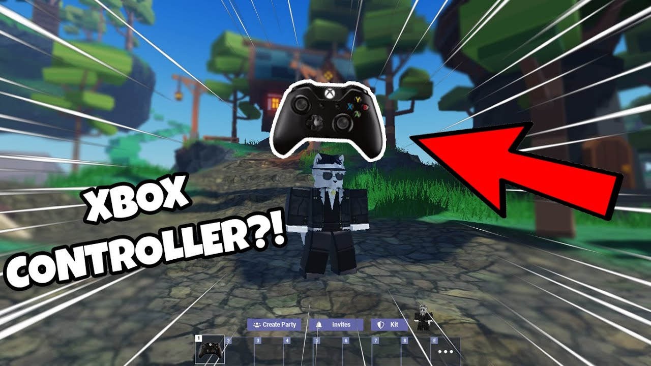 Playing Roblox Bedwars With A CONTROLLER..