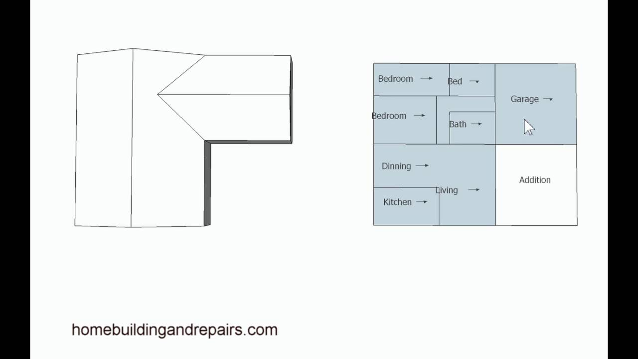 Examples of home addition location for floor plans for Addition plans