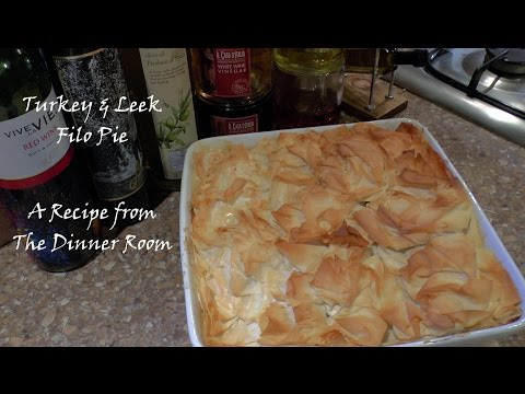 Turkey and Leek Filo Pie - How To Make