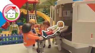 Film Playmobil La sortie de la maternelle au parc de jeux Histoires de la Famille Hauser