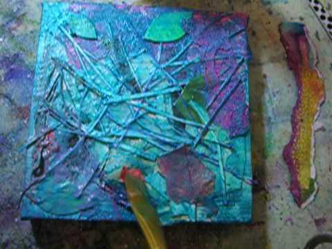 """""""Table Scraps"""" Mixed Media Canvas"""