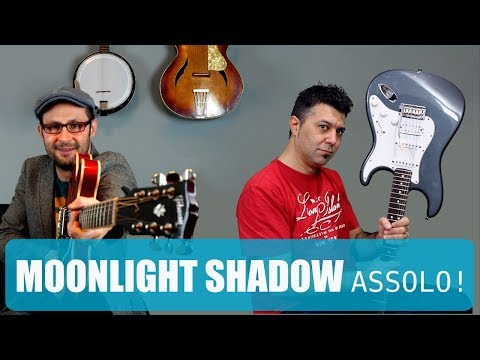 Moonlight Shadow assolo Ft. Antonio Orrico! Lezione chitarra Mike Oldfield