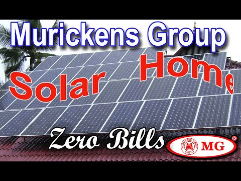 Ideal  solar powered homes in Kerala  - installed by murickens group