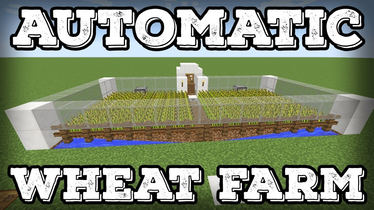 Minecraft Tutorial Automatic Replanting Wheat Farm 1 13 Changes Youtube