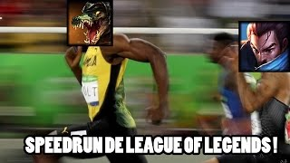 Le speedrun de League of Legends face à un samouraï.
