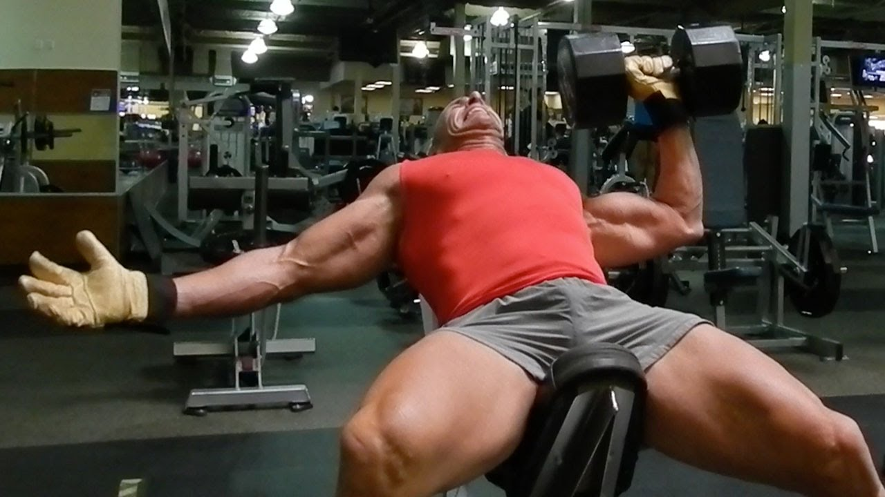 Pecs Of Death With One Arm Dumbbell Press