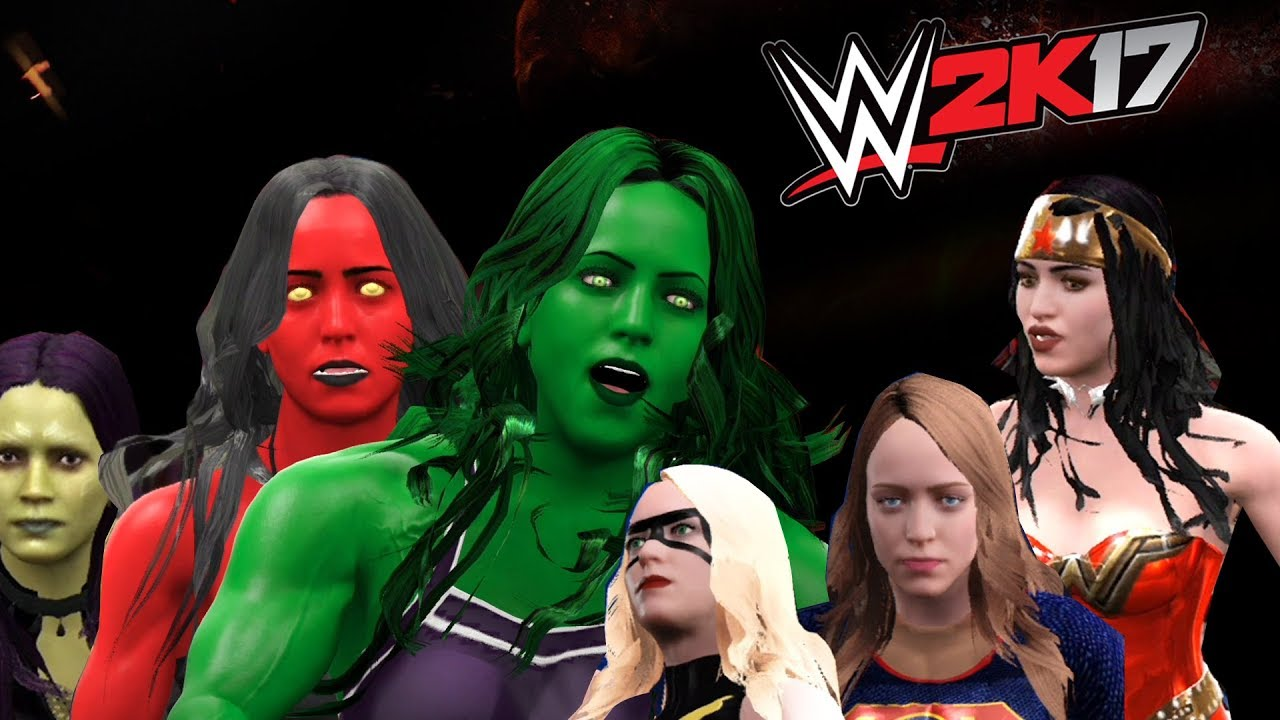 She Hulk Vs Red She Hulk Vs Wonder Woman Vs Super Girl Vs Gamora Vs