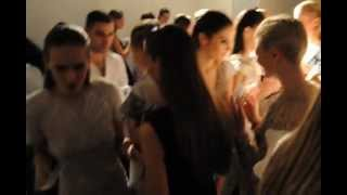 Backstage Pre RUBINSINGER s/s 2013 at AURORA Fashion Week in Russia