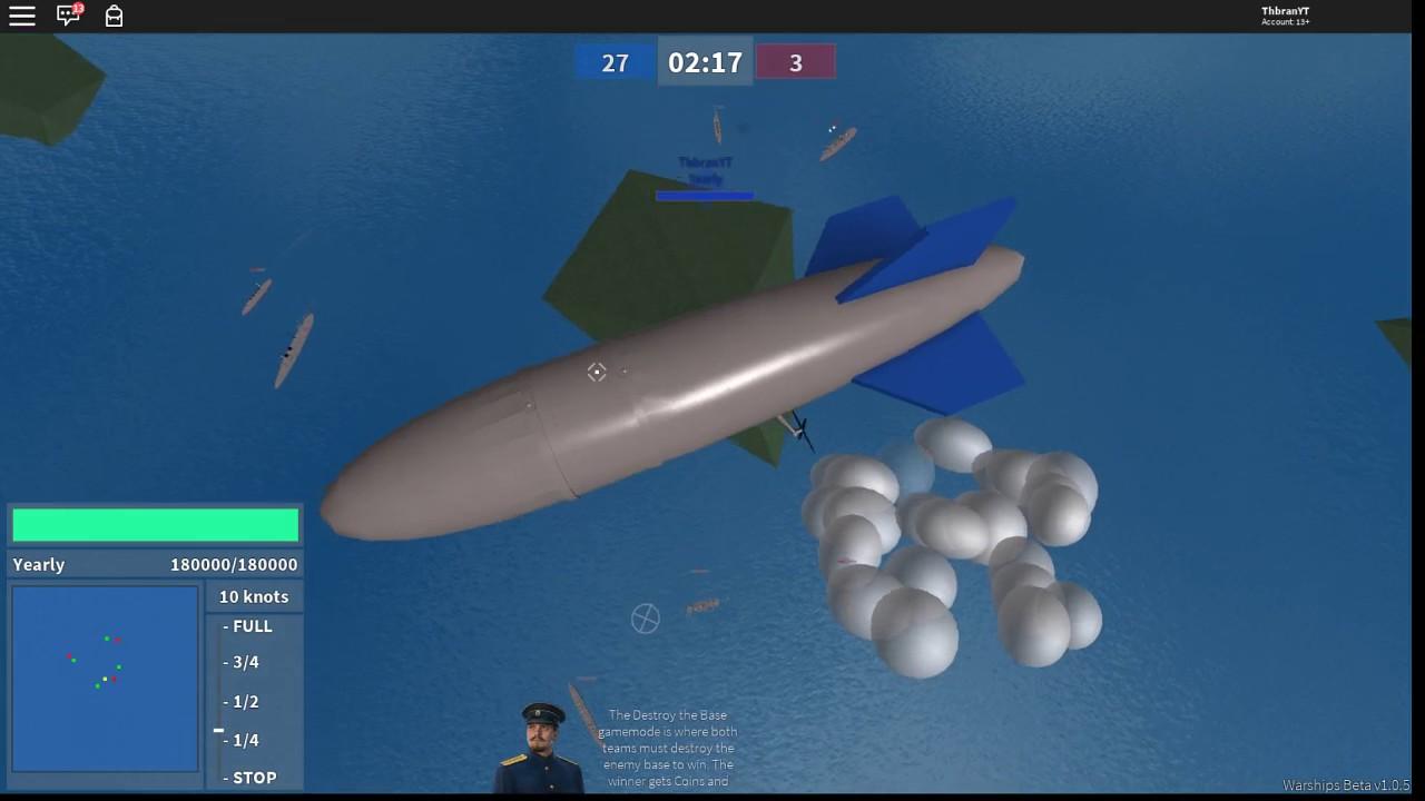 Roblox Beta Warships Using A Zeplin Youtube - roblox warships premium showcase 1 by jyxirev