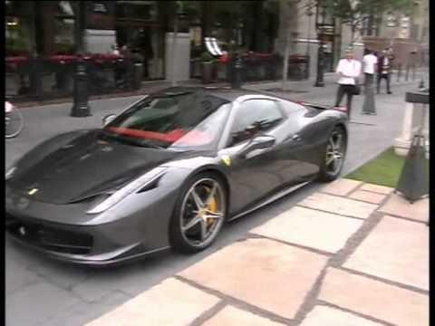 New Grey Ferrari 458 Spider Porsche Panamera Turbo