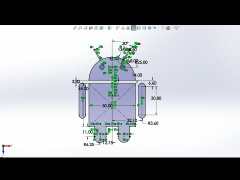 Android Logo In Solidworks