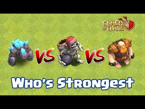 GAINT VS GOLEM VS GAINT SKELETON | WHO's STRONGEST | CLASH OF CLANS |