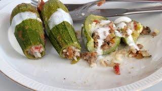 Stuffed Zucchini -- The Frugal Chef