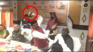 watch-bjp-mp-and-mla-from-uttar-pradesh-thrash-each-other-with-shoes-during-meeting