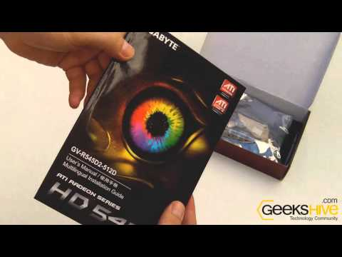 ATI Radeon HD5450 512mb Ddr2 Gigabyte - Unboxing by www.geekshive.com