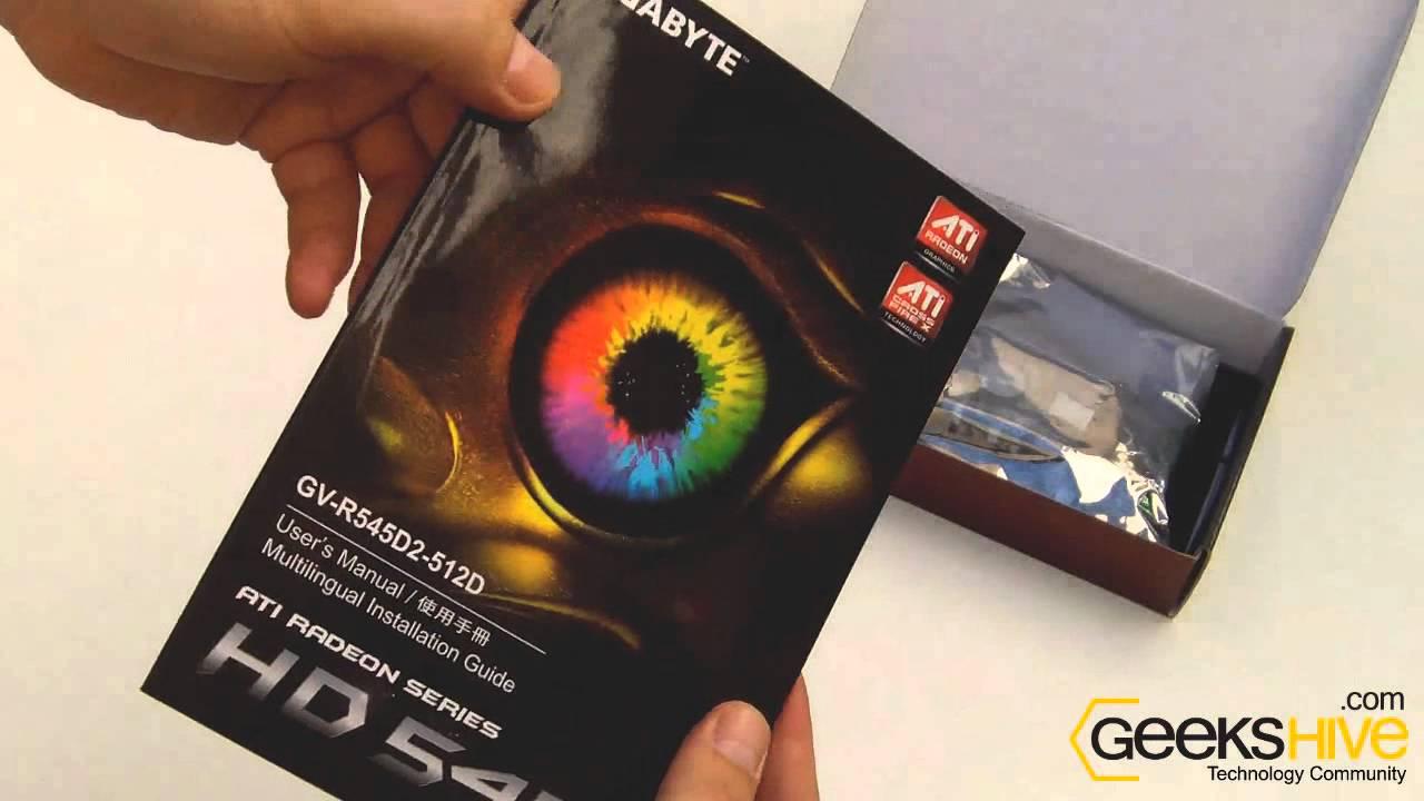 DRIVERS FOR GIGABYTE GV-R545D2-512D AMD GRAPHICS