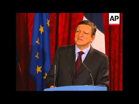 Sarkozy, Barroso and Brown comment on world economy after meeting