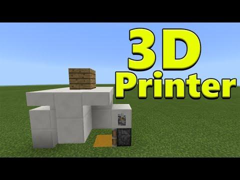 3D PRINTER | Minecraft PE Redstone Creation