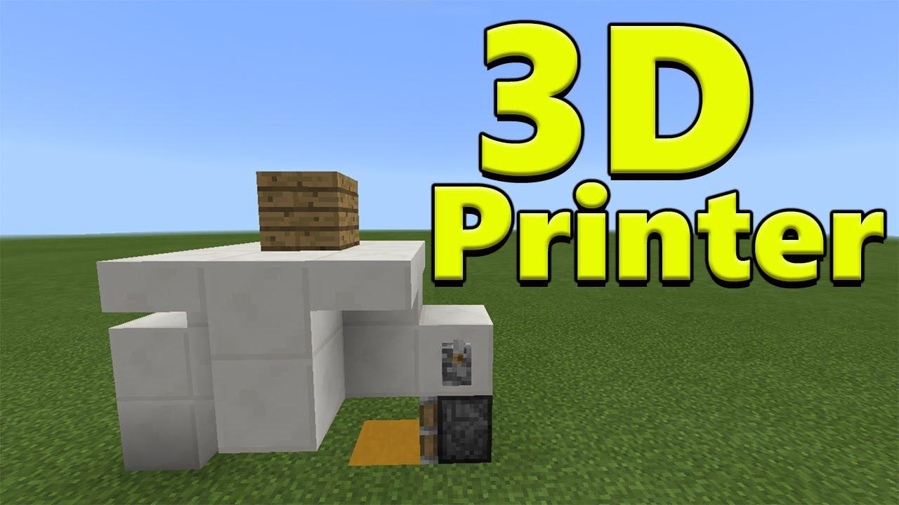 3d Printer Minecraft Pe Redstone Creation Youtube