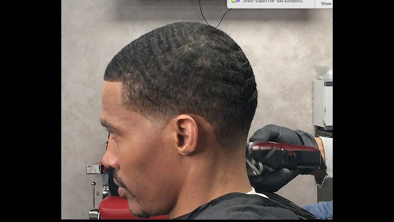 12 Wave Haircut With The Grain Youtube