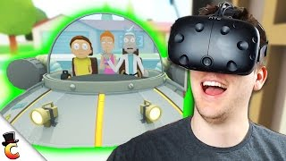 Fixing the Car! - Rick and Morty: Virtual Rick-ality - Rick and Morty VR HTC Vive - Part 2