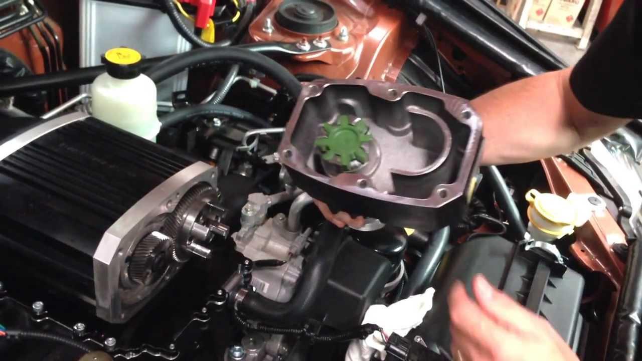 Subaru supercharger secrets the front inside of the Sprintex compressor