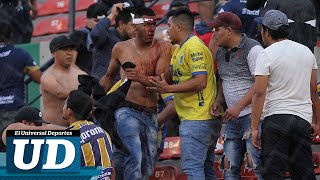 VIOLENCIA en la tribuna suspende el (At...