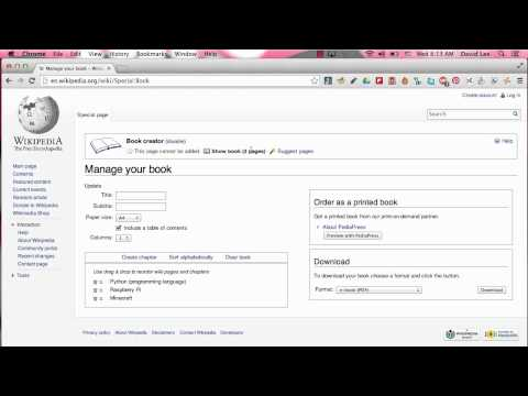 Create an eBook with Wikipedia Articles