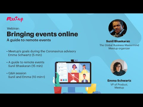 Bringing Events Online: Keep Your Audience Engaged, Healthy, & Growing