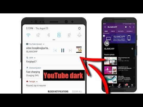sidee loohela youtube dark mode+kudhageeso muqaalada cod ahaan