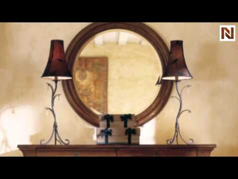 Kincaid 96 112 Tuscano Round Mirror W Nail Head Trim