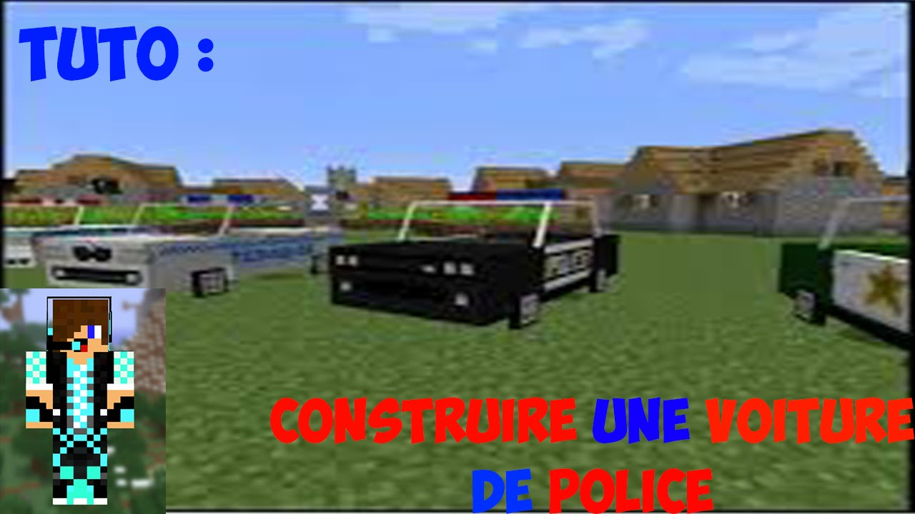 minecraft tuto comment faire une voiture de police. Black Bedroom Furniture Sets. Home Design Ideas