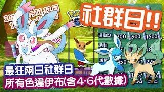 【Pokemon GO】伊布社群日 所有色違伊布 葉伊布 冰伊布 仙伊布數據 精靈寶可夢GO
