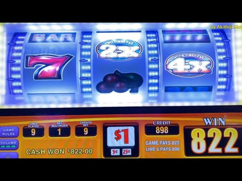 Excellent Win - Double Four Times Pay - 9 Lines @ San Manuel Casino [赤富士スロット] [カリフォルニア カジノ] スロット勝利