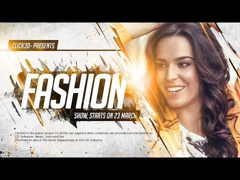 Fashion Poster Design in Photoshop | click3d