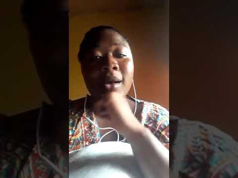 "Nice girl singing kofi Kinaata song ""The Whole Show"" with marvelous voice."