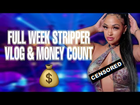 STRIPPER VLOG & MONEY COUNT CLUB AND STAGE FOOTAGE FULL WEEK | COLLEGE LIFE | MOM LIFE | CITYBLUE
