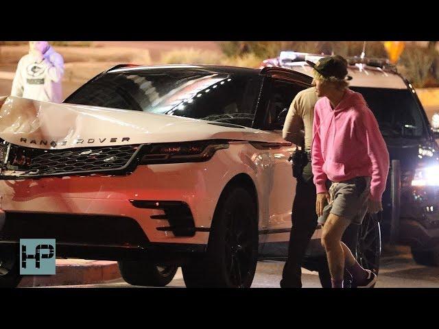 Así quedó la camioneta de Justin Bieber tras su accidente