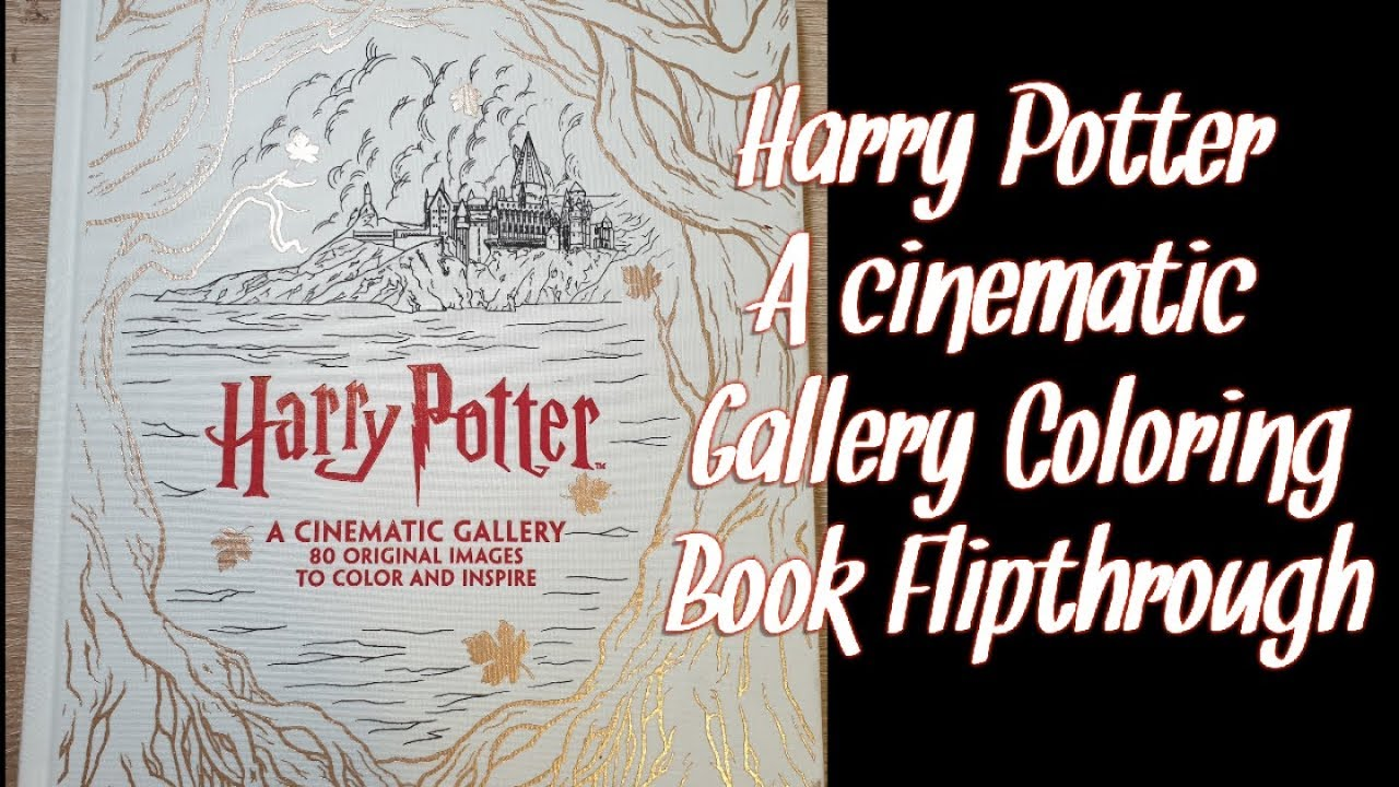 Harry Potter A Cinematic Gallery Coloring Book Flipthrough By Coloring With Vicky Adult Coloring Channel