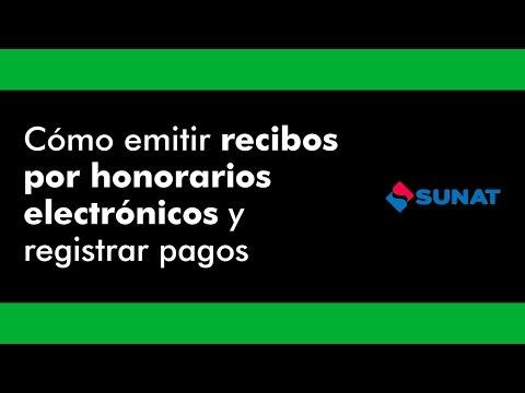 Cómo Emitir Recibos por Honorarios Electrónicos y Registrar Pagos | SUNAT 2017
