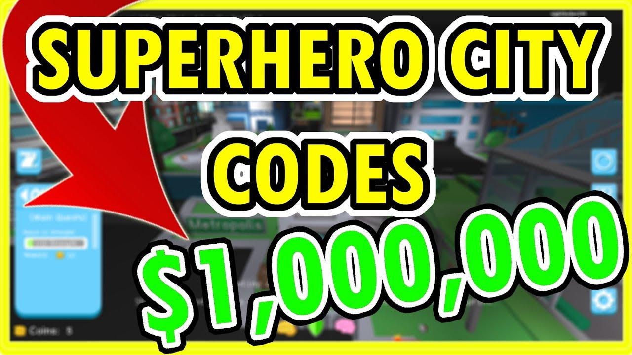 All Roblox Superhero City Codes Youtube