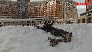 ГИРОСКУТЕР РУЛИТ / Испытания гироскутера зимой на снегу. Hoverboard